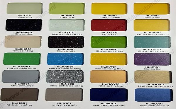 Bảng mẫu màu kính ốp bếp