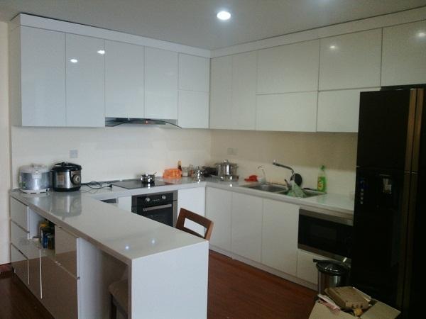 tủ bếp gỗ MDF cốt xanh chống nước