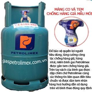 Bình gas Petrolimex ngang