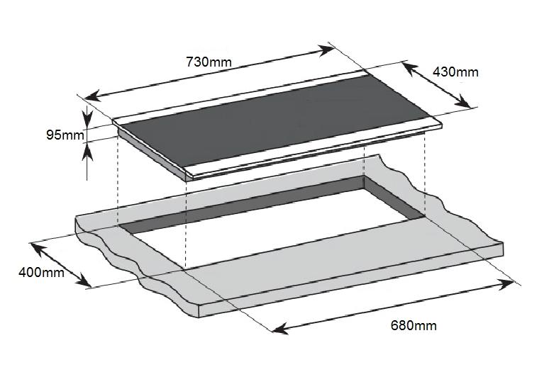 Bếp điện từ hỗn hợp Romal RIG - 201C
